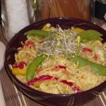 Indyk w curry z chińskim makaronem