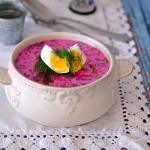 Chłodnik litewski z jajkiem